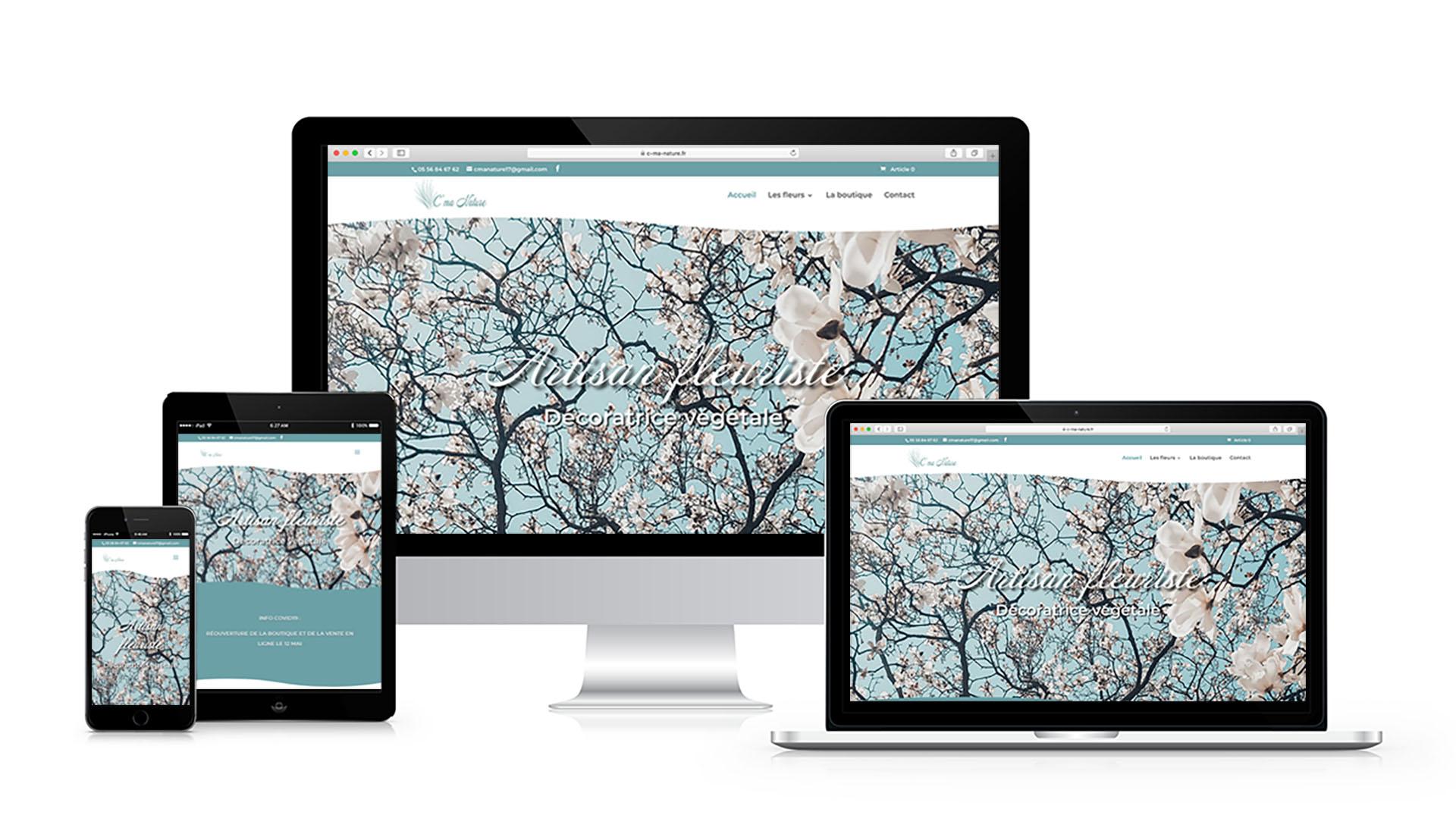 Refonte site e-commerce d'une fleuriste à Fouras