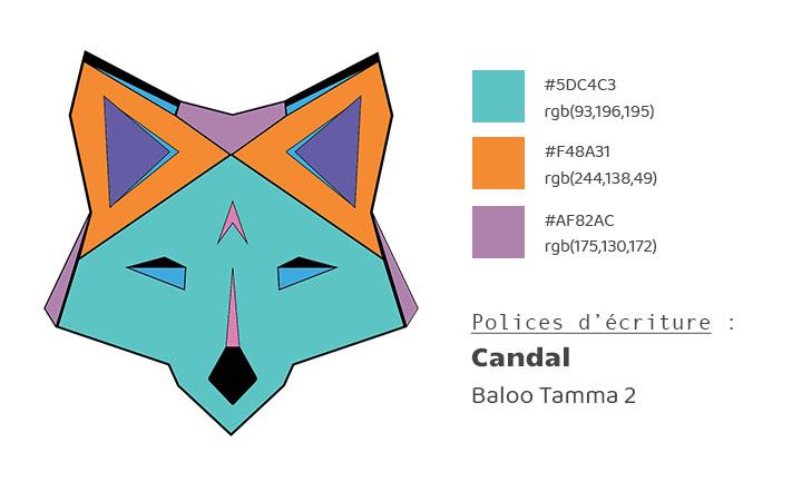 Charte graphique Fox Webdesign