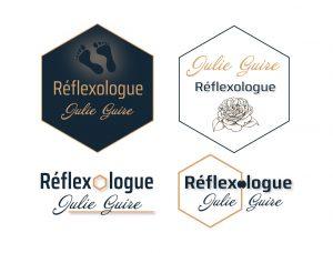 4 propositions de logo pour une réflexologue